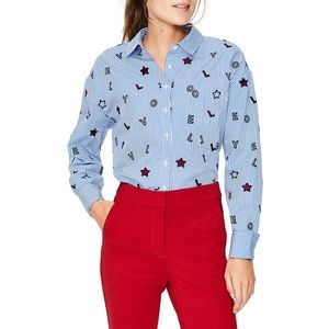 Boden Maria Embroidered Lovely Blouse
